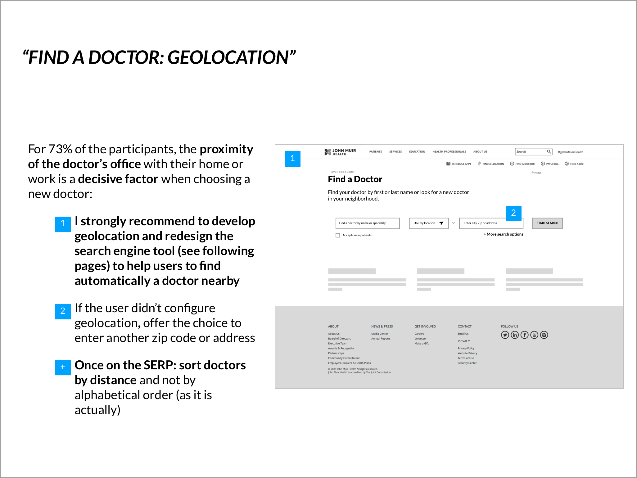 Recommendation #1: develop geolocation