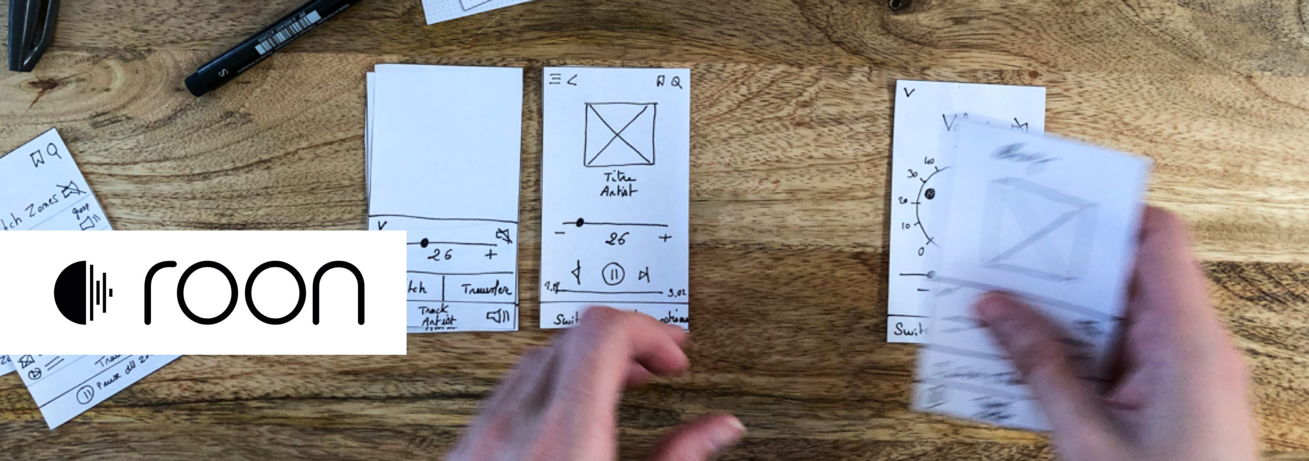 Working on the paper prototype version of Roon App